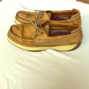 Men's Sperry  Topsiders 11 1/2 tan good condition